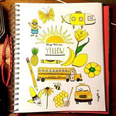 drawing yellow something drawings doodles simple doodle sketch instagram pop