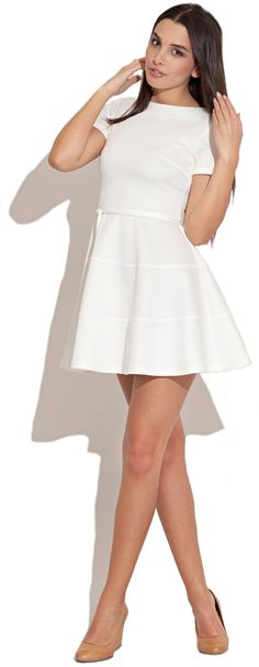 Dream it Wear it - Mid Length Sleeve Skater Dress Grey, £39.95 ...