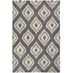 Ikat Diamond Rug - 5x8 Gray