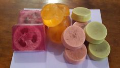 MP soaps -  loofah, shea butter, french green clay n rose clay soaps