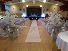 Stunning decorations for wedding held in WA WA Shriners UPPER Hall.