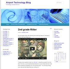 This is a technology blog for Kindergarten to Grade 8 students.  The teacher publishes the daily tasks for each class and assigns the Grade as a category to the post so students can easily find the tasks for their class.