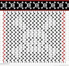 Esquema para hacer una pulsera de hilo con dibujos de calaveras