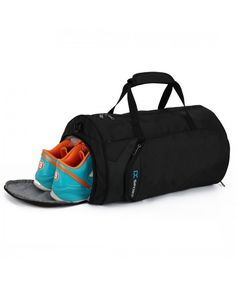 Fitness Sport Small Gym Bag with Shoes Compartment Waterproof Travel Duffel  Bag for Women and Men 8bdd987fe358b