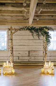 2021 Decor Trends: DIY Ideas for Rustic Wedding Arch Winter Wedding Arch, Wedding Arch Greenery, Wood Wedding Arches, Simple Wedding Arch, Indoor Wedding Arches, Winter Wedding Ceremonies, Birch Wedding, Wedding Arch Rustic, Wedding Ceremony Arch