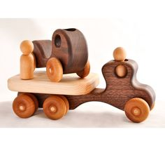 Wooden Toy Car and Truck in Walnut, $38.0
