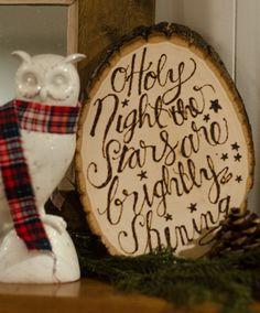 DIY Christmas Carol Wood Slice