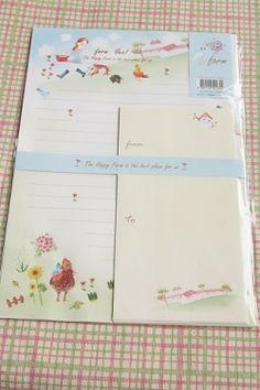 Kawaii Letter Set - Farm Yes