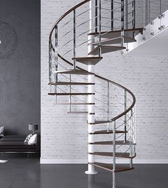 Apollo Stainless Steel Spiral Staircase > Custom Spiral staircase range > Home Page > Spiral Stairs Direct