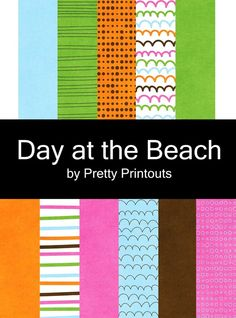 Day at the Beach Digital Scrapbooking Paper