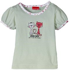 6a5751b4ca6b SALT AND PEPPER Baby - Mädchen T-Shirt Nb Love Cats Gestreift, Gr. 68, Rosa  (Bubblegum 833)  Amazon.de  Bekleidung