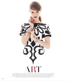 POP ART: MAGDALENA LANGROVA BY VICTOR DEMARCHELIER FOR US HARPER'S BAZAAR MARCH 2013
