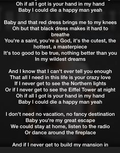 Red dress lyrics good