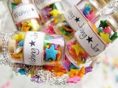 Wishing Star Jar Necklace  Glass Bottle Necklace  by starfirewire, $12.00