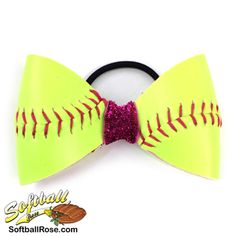 Handmade Softball Hair Bow made from real softball leather Girls Softball Quotes, Girls Softball Cleats, Softball Hair Bows, Softball Helmet, Softball Uniforms, Softball Shirts, Softball Players, Softball Cheers, Softball Clothes