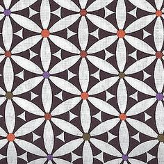 The Cotton Club | Black & White Cotton Fabric could inspire a quilt block pattern