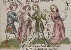 Thomasin <Circlaere>   Welscher Gast (a) Schwaben, um 1460-1470 Cod. Pal. germ. 320 Folio 9v