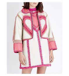 Shop the latest Katie Jones Selfridges Exclusives here Knitting For Kids, Knitting For Beginners, Baby Knitting, Crochet Jacket, Crochet Fashion, Crochet Designs, Knitwear, Tunic Tops, Leather Jacket