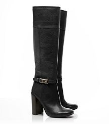 "Jenna High Heel Boot-This Tory Burch boot comes in a gorgeous ""Elephant/grey"" shade. I just can't pick  one."