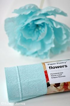 Rico Florist Crepe Paper, is a lovely sculptural paper that holds its shape well, making it ideal to create beautiful paper flowers. The Florist Crepe paper comes on rolls measuring x weig Paper Magic, Crepe Paper, Paper Flowers, Light Blue, Shapes, Create, Diy, Paper Mill, Bricolage