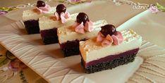 Makovo-višňové rezy so šľahačkou (fotorecept) - recept | Varecha.sk Cheesecake, Recipes, Food, Basket, Meal, Cheesecakes, Food Recipes, Essen, Rezepte