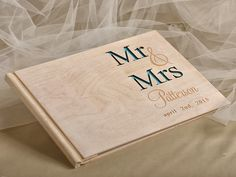 WEDDING GUEST BOOKS wood
