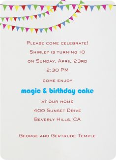 """""""Triangle Flags Primaries"""" Invitation, Paperless Post"""