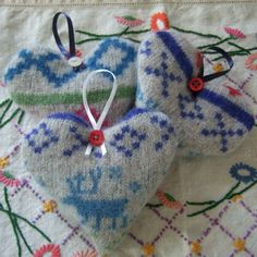 Pure Wool Lavender Hearts - The Supermums Craft Fair