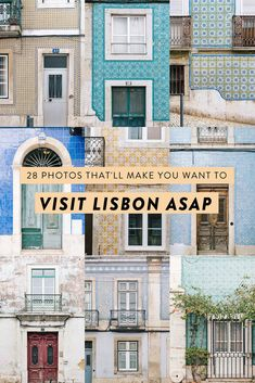 Lisbon photo diary: pretty facades and colorful tiles. 28 photos that will make you want to visit and inspire you to book a Portugal trip ASAP!