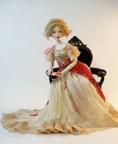 "porcelain doll Lily. collection ""Muses by Alphonse Mucha. Porcelain, 65cm"