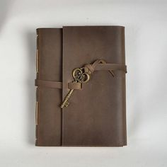 Leather journal handmadebrown vintage journalblank by CLWorkshop, $60.00