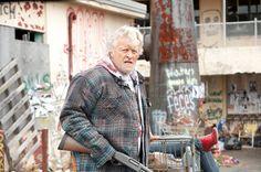 """Hobo.  avenger.  Rutger Hauer.  """"Hobo with a Shotgun"""".    <3<3<3<3"""
