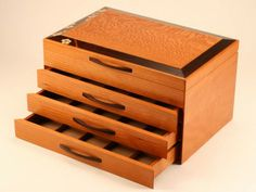 Heartwood Creations has been making finely crafted handmade jewelry boxes since Every custom wooden box is made in our shop in Rockford, Illinois. Cherry Blossom Jewelry, Drawer Dividers, Mitered Corners, Wooden Jewelry Boxes, Designer Collection, White Flowers, Fine Jewelry, Crafts, Handcrafted Jewelry