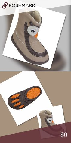 "Hoot Hoot Boot Hoot Hoot Don't Pollute! Run, play, jump, weather worthy adorable unisex boots!  Sturdy ridged sole helps stepping with confidence on slick surfaces and durable for outdoor wear and play. Toddler size 10 6.5"", little kid 12 7.13"" they're in and so cute our model will model them soon! Our little model says they are fun and great for 🏃 running in! HP Shoes Boots"