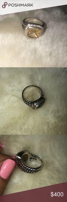 David Yurman diamond ring (Citrine 11mm) Brand new David Yurman 11mm, citrine diamond ring David Yurman Jewelry Rings