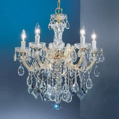 5 Light Maria Theresa Crystal Chandelier