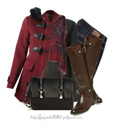 """Burberry Duffle Coat"" by jaycee0220 on Polyvore featuring polyvore, fashion, style, Forte Forte, Burberry, Paige Denim, Isaac Mizrahi and Karl Lagerfeld"
