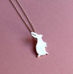 Crazy White Rabbit Necklace
