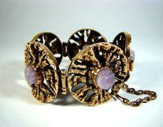 Bracelet Designs, Bracelets, Amethyst, Cufflinks, Bronze, Space Age, Detail, Accessories, Vintage
