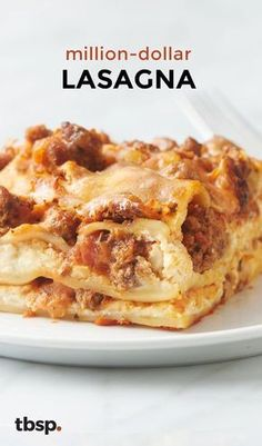"""ultra-decadent dinner finally answers the question, """"Can a lasagna have swagger?"""" (The answer is yes.) The rich layers of cheese, beef and creamy tomato sauce taste like a million bucks. Beef Dishes, Pasta Dishes, Food Dishes, Main Dishes, Italian Recipes, Beef Recipes, Cooking Recipes, Lasagna Recipes, Lasagna Food"""