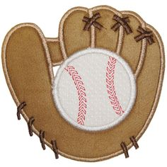 Baseball and Mitt Applique -- 4x4, 5x7, 6x10 Planet Applique -- Own it!