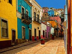 colourful mexico streets images - Google Search