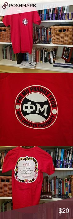 Phi Mu Philanthropy Tee Phi Mu Phi Lambda had a Family Feud-style event for CMNH and we made these gorgeous shirts! Like it, like it, love it, love it!  Worn once at the event, no damage! Needs a Phi Mu Phan to give it a new home! Tops Tees - Short Sleeve