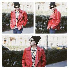 Red Jacket by Anel Yaos 2255 Spring15/ JUICY GUILE by Jorge Barceló #RedBiker #Blogger #Men #Stylist #Designer #Mode #AnelYaos #Red #Barcelona