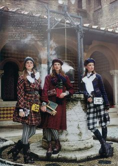 "Inspiring! Vogue Japan, October 2013 Fall Fashion Spread: ""The New School Uniform"" inspired by Harry Potter, styled by Anna dello Russo"