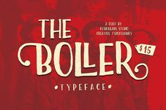The Boller Typeface - Free Font of The Week from FontBundles.net