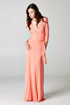 Sunday Brunch Dress in Coral - Roe Boulevard