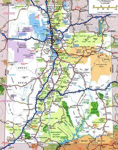 Utah Highways The main roads Utah Maps Pinterest Utah