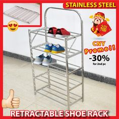 Incredible shopping paradise! Newest products, latest trends and bestselling items、Retractable Shoe rack - stainless steel durable light shoes bench shoe stack local seller:Furniture & Deco, Items from Singapore, Japan, Korea, US and all over the world at highly discounted price!