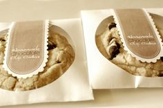 Best cookie holder - an empty cd sleeve is the perfect cookie container. Sealed with a personalized tag, it's a great party favor.